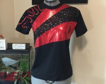 Boy's twirling shirt