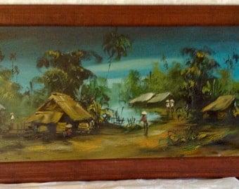 1960's Vietnam War Era Oil Painting