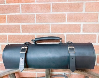 Leather Knife Roll Personalized Knife Bag