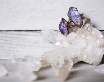 Amethyst Rings -  Raw Amethyst Rings- Amethyst Statement Ring