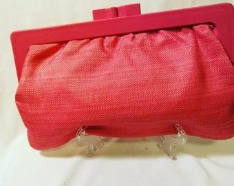 Vintage Fashion Cloth Pink Clutch