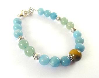 Success Aventurine & Amazonite Bracelet Bracelet-Bracelet-Fortune-Good Luck Money Bracelet-Wish Bracelet