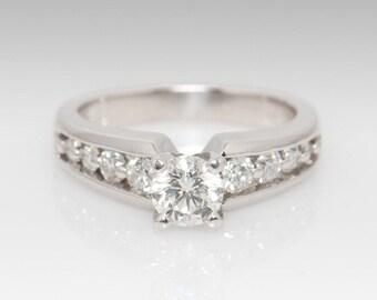 Platinum Diamond Engagement Ring - Size 5.75