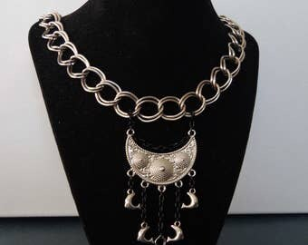 Chunky chain, dolphins and key necklace