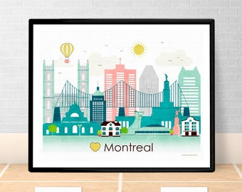 home decor stores montreal qc city wall etsy 12596