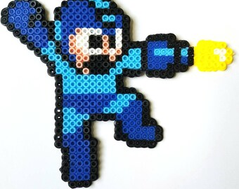 Megaman Perler Beads   Fuse Beads  Megaman Pixel Art   As Is or Magnet