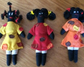Vintage Hand Stitched Black Dolls