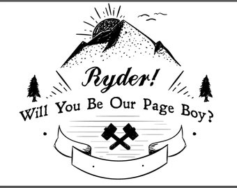 Page Boy Card, Will You Be Our Page Boy, Wedding Cards, Wedding Party Card, Page Boy, Page Boy Card, Best Man, Wedding, Wedding Party