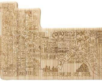 Minneapolis-St. Paul Engraved Cutting Board