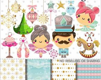 80%OFF - Nutcracker Clipart, Nutcracker Graphics, COMMERCIAL USE, Ballet Clipart, Planner Accessories, Ballet Graphic, Christmas