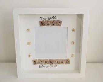 Fathers Day Gift, Personalised Fathers Day Frame, Grandad Frame, Best Grandad, Grandad Gift