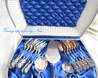Vintage Silver spoon set Antiko Teaspoons coffee spoons silver platet 16 pieces silverware