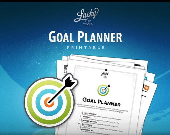 "Goal Planner / Goal Setting tools; Instant download / Printable PDF; Letter size 8.5""x11"", Binder format"
