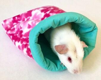Light Blue Cotton and Pink Flowers Fleece Critter Cozy
