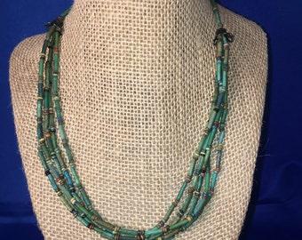 Ancient Egyptian Mummy Bead Necklace      CA 1085- 525 BCE