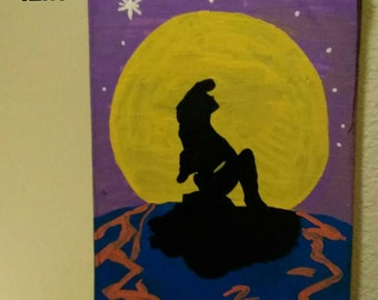 The Little Mermaid Inspired Wood painting