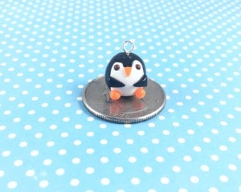 Penguin Charm - Polymer Clay