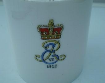 Unmarked China Cup/Mug : King Edward VII Lithophane Cup/Mug - Coronation 1902 - British Royalty - England