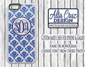 Personalized Monogrammed cell phone case, iPhone or Galaxy, name or monogram #140
