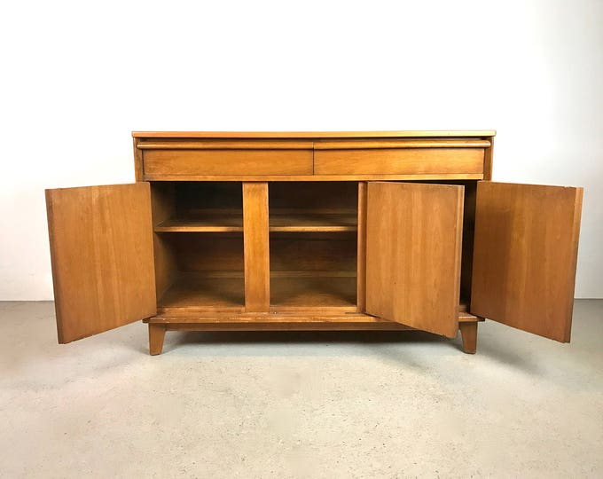 SOLD Mid Century Modern Blonde Wood Credenza