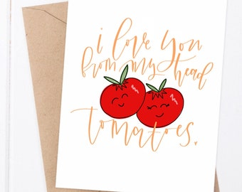 tomatoes love card | Mother's Day card | funny card | love card