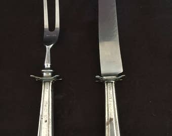 Vintage Sterling Silver Carving Set with Resting Feet