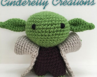 Crochet Yoda Inspired Doll