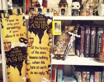An ember in the ashes bookmark - Handmade