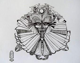 Flying Samurai (contemporary illustration)