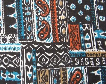 "Home Decor Fabric, Abstract Print, Black Fabric, Dress Material, Cotton Fabric, Sewing Craft, 44"" Inch Designer Fabric By The Yard ZBC7182A"