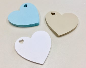 Hearts Name Tags, Wishes tags | Wedding | Babyshower | Bachelorette | Labels | set of 16
