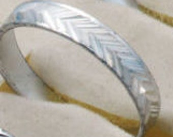 Carved Silver Rings
