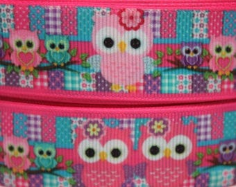 "Cute Owl Design Dog Collar - Choose Side Release Buckle or Martingale  (1"" Width) - Martingale Option Available"