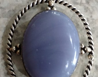 Light Purple Chalcedony Necklace