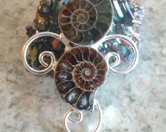 Ammonite Pendant Necklace