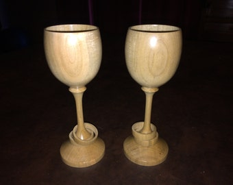 Cherry Celtic Wedding Goblets, matched pair #7194