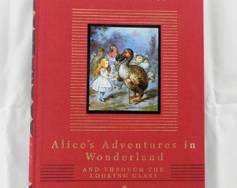Alice's Adventures in Wonderland and Through the Looking Glass  Vintage Book
