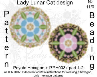 Forget-me-not flowers patterns, Hexagon peyote pattern, Spring flowers, Spring patterns, Vintage peyote, Peyote stitch, Beading patterns