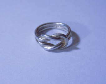 Knotted sterling silver ring
