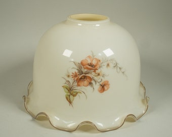 Vintage glass lamp shade, 70s/80s, pendant lamp, scalloped edge