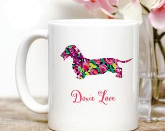 "Wire-haired Dachshund ""doxie""  Love Coffee Mug"