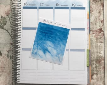 Blue Watercolour Headers, Planner Stickers for use with ERIN CONDREN LIFEPLANNER™, Happy Planner, Plum Paper Planner