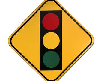 Reflective Traffic Signal Ahead 12""