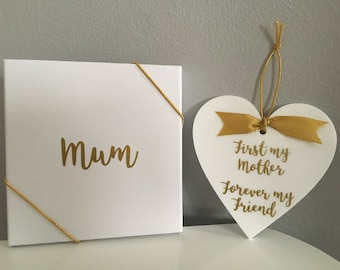 Mother's Day hanging heart, personalised, gift box