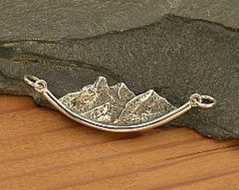 20% OFF SALE! Silver Mountain Charm or Necklace. 925 Silver. Item 288.