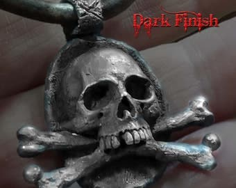 Skull Pendant, Pirate Pendant,Skull and Crossbones, Silver Skull, Silver Skull Pendant, Pirates of the Caribbean,