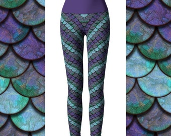30% OFF Mermaid Scale Leggings, Mermaid Capris, Yoga Leggings, Dragon Leggings, High Waist Leggings, Mermaid Leggings, Scale Leggings