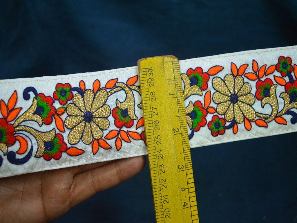 Decorative Trim By 2 Yard Embroidered Saree Border Trim Indian ...