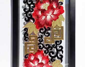 Flower art Abstract art Glass painting Wall decor  Painted glass