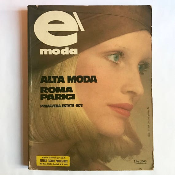 É Moda, Spring / Summer 1973.